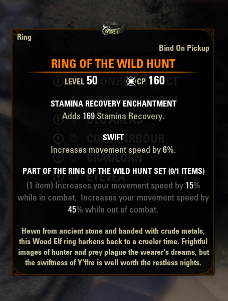 eso mythic gear antiquities ring of the wild hunt greymoor